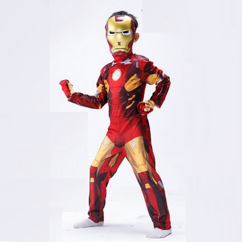 cosplay children christmas costumes for boys boy ironman helmet iron man cosplay girl child kids iron man costume kids halloween