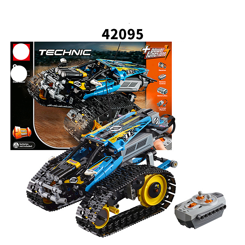 Newtoytechnic series the Remote Controlled Stunt Racer Model Building Blocks set Compatible with 42095 classic toys