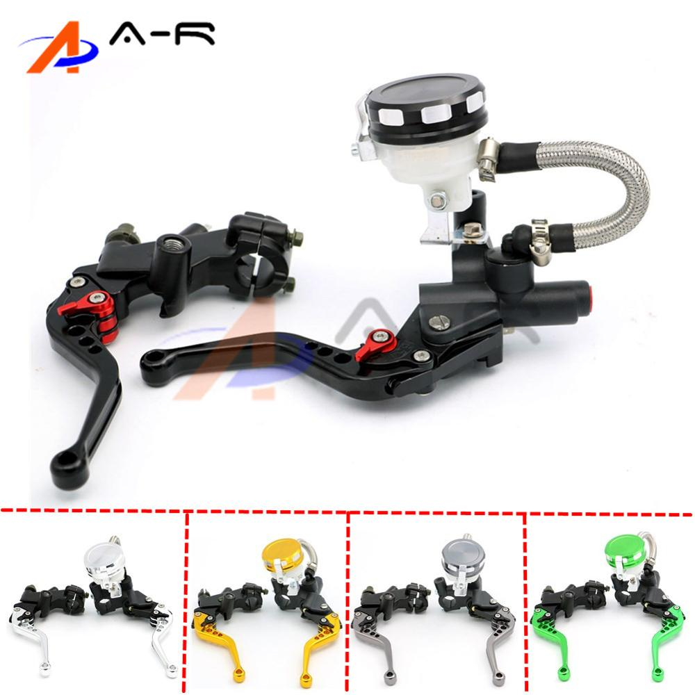 7/8 22MM CNC Adjustable Clutch Lever Brake Master Cylinder Kit Reservoir for Suzuki GSXR 600 750 1000 SV 650 1000 1000S B-King 38mm cylinder barrel piston kit