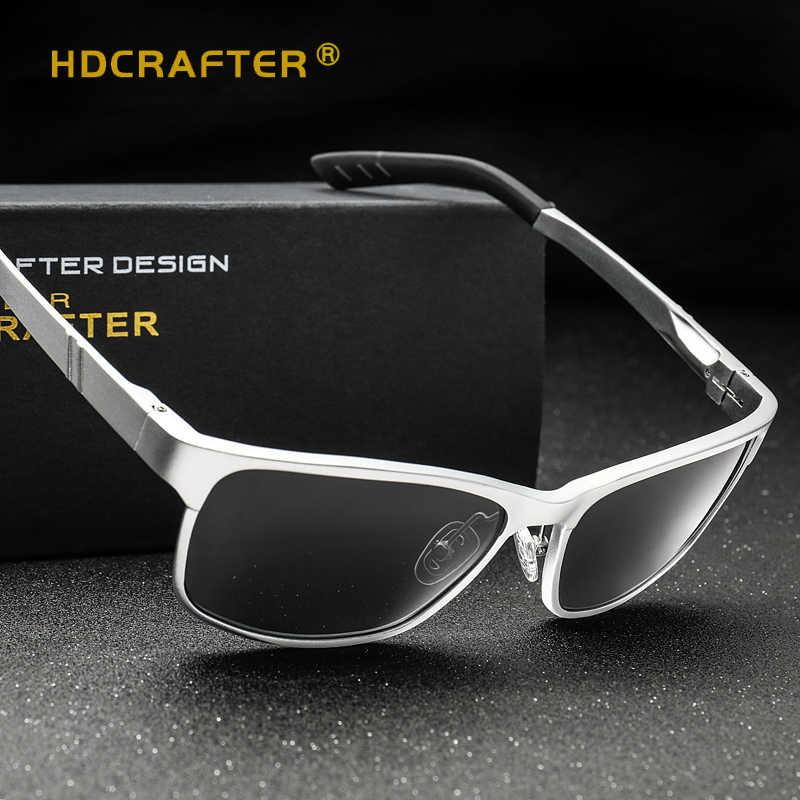 2b0e578f65 ... HDCRAFTER Brand Designer Sun Glasses Aluminum magnesium polarized  driving Sunglasses mens Vintage Square Mirror Sunglasses ...