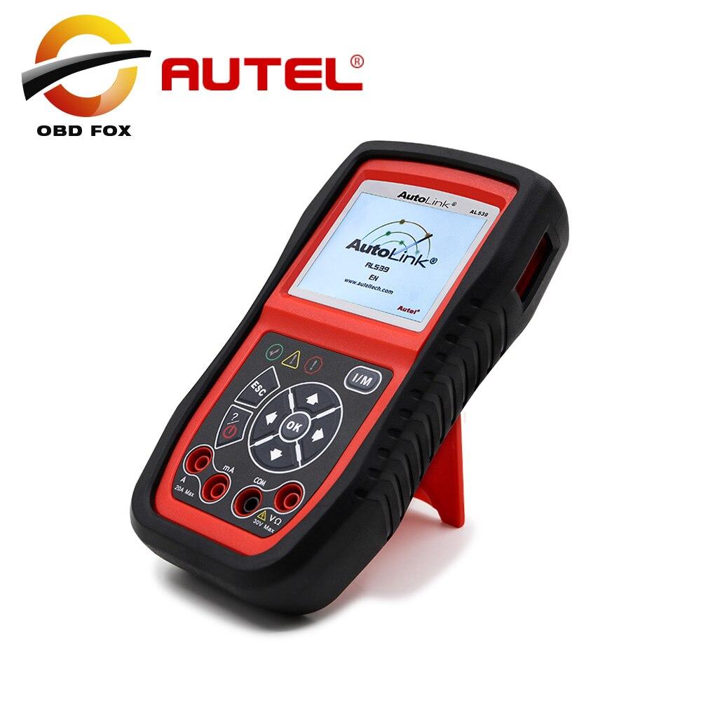imágenes para [Distribuidor autorizado] Profesional obdii + Electrical Test Tool Autel AutoLink AL539 actualización en línea Original En la acción
