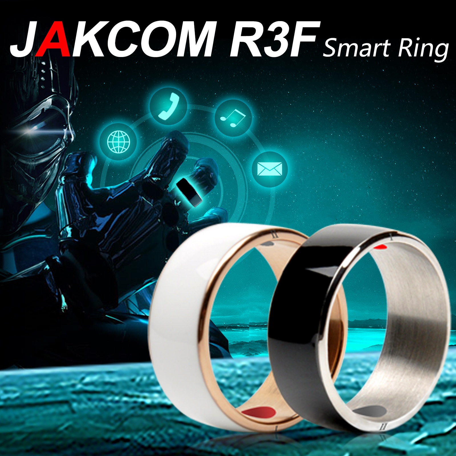 Jakcom R3F Wearble Devices Smart Ring Electronic Magic Finger Ring with Dual Core Hign Speed NFC for Android,window NFC phones