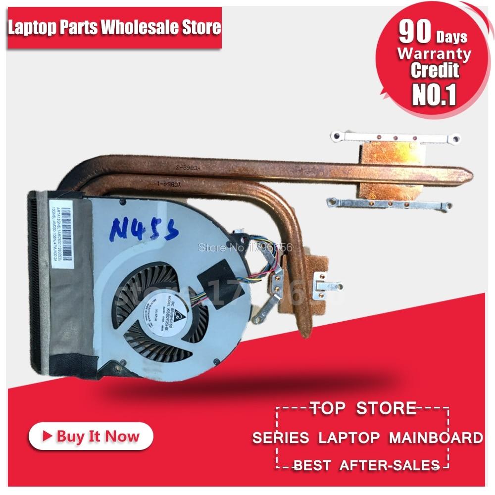 купить Original laptop cooling fan cpu cooler Heatsink Cooling Fan For ASUS n45 N45S N45SF N45SL heatsink Fan radiator Heatsink по цене 1559.2 рублей