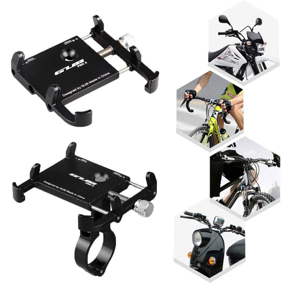 Universal Bicycle Phone Holder Motorcycle Handlebar Clip Stand For iPhone Samsung Mount Bracket Support For 3.5-6.2