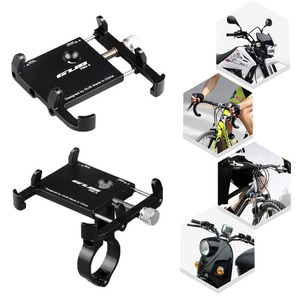 "Image 2 - Universal Bicycle Phone Holder Motorcycle Handlebar Clip Stand For iPhone Samsung Mount Bracket Support For 3.5 6.2"" Smartphones"