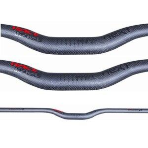 Image 3 - Süper Hafif Yarış Yüz Yeni Dağ bisikleti 3 k tam karbon gidon mat karbon bisiklet gidon MTB parçaları 31.8 * 600 760mm