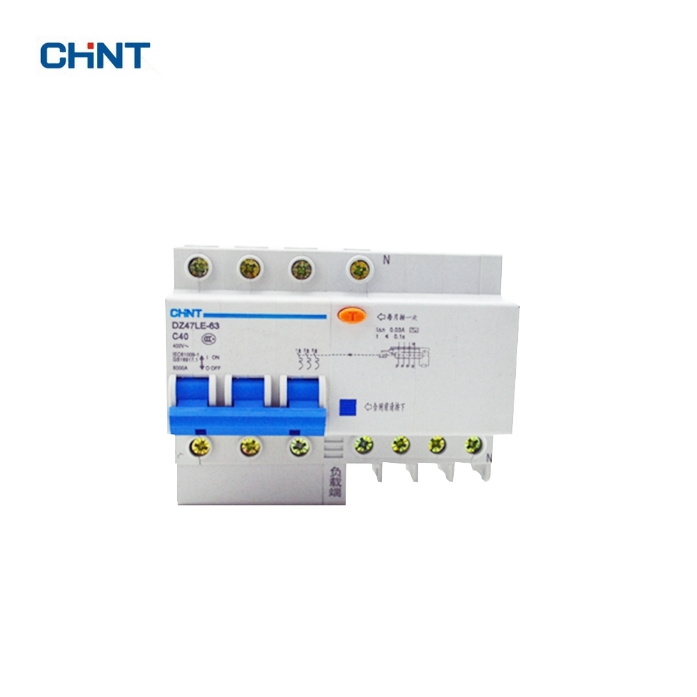 Chint 40a Dz47le 63 3p N C40 Overload Protection Elcb Earth Leakage Connection Diagram Of Circuit Breaker