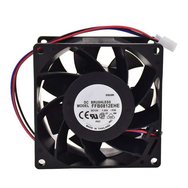 For Delta FFB0812EHE 12V 1 35A Cooling Fan Speed Measuring Server Cabinet 3  Wires 8038 3Pin