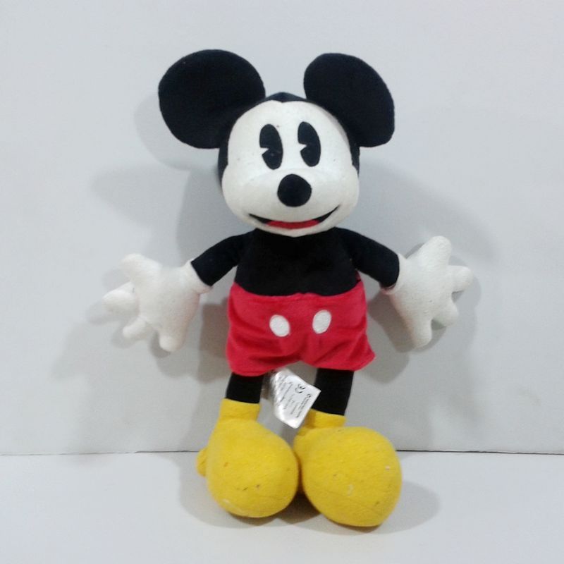 Vintage Mickey Mouse Soft Cute Kawaii Stuff Plush Toy Baby Birthday Christmas Gift 35cm