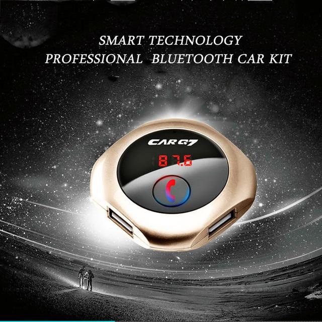 Громкой связи В Автомобиле Для Вашего Телефона Bluetooth Car Kit Автомобильное зарядное устройство Mp3-плеер Fm-радио Передатчик Bluetooth автомобильный адаптер aux