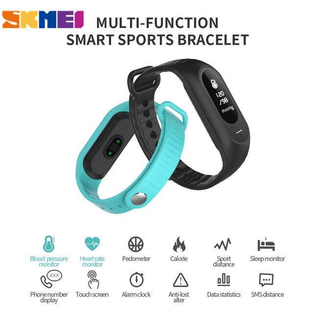 SKMEI Smartwatches Women Smart Watch Blood Pressure Heart Rate Monitor Bracelet Call Reminder Touch Screen Digital Wristwatches