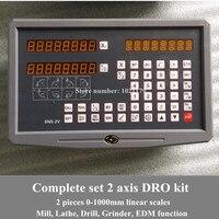 Бесплатная доставка токарный станок/фрезерный/сверлильный/EDM/CNC станок 2 оси устройство цифровой индикации и линейные весы/линейный датчик