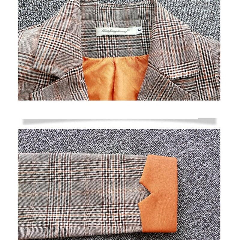 Longues Manteau Manches 9805 Female2018new Femmes Chèque À Mince Coupe vent De Orange Moyen Grand Taille Corée Veste Coat 9805 Blue Chunqiu Mode d1 Long Odfvebx D1 nqRTa6wZ
