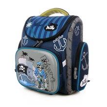 Delune школьные сумки для мальчиков ортопедический рюкзак Pirate Captain узор школьный дети сумка Mochila Infantil Класс 1-5