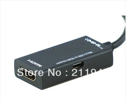 MHL Micro USB to HDMI Adapter HDTV AV Cable for Samsung Galaxy S3 III Note 2 II