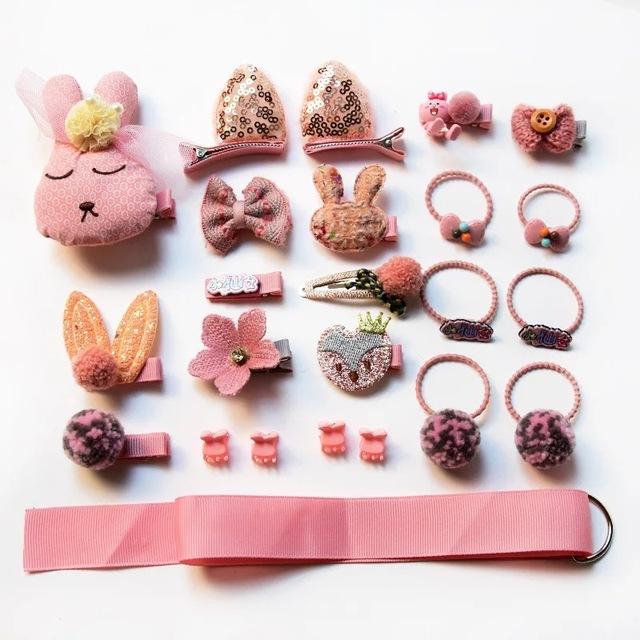 18/24 pcs baby hair clips Set accessories cross kid hair Clip set Cartoon girl hair clips Accessories Baby headband