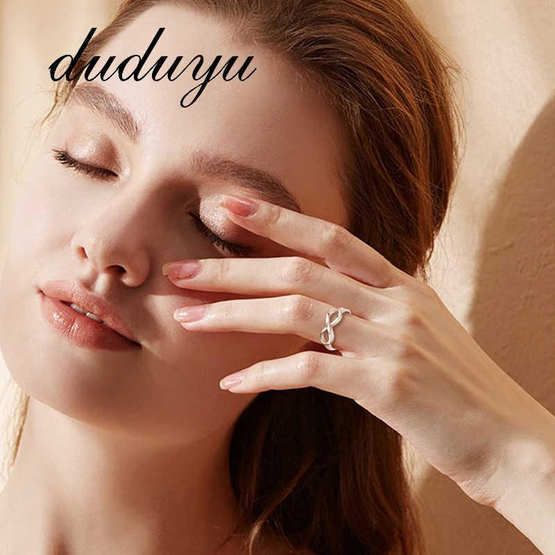 แฟชั่นผู้หญิงแหวนนิ้วมือจำนวน 8 สี Sliver แหวนเรียบง่ายประณีตเครื่องประดับขนาดเล็ก 5/6/7 /8/9/10 ขนาด