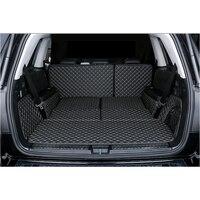 Lsrtw2017 волокна кожи багажник автомобиля коврик для mercedes benz gls350 gls400 gls500 gls320 gl63 gl350 gl400 gl500 gl550 gls63 2013 2018
