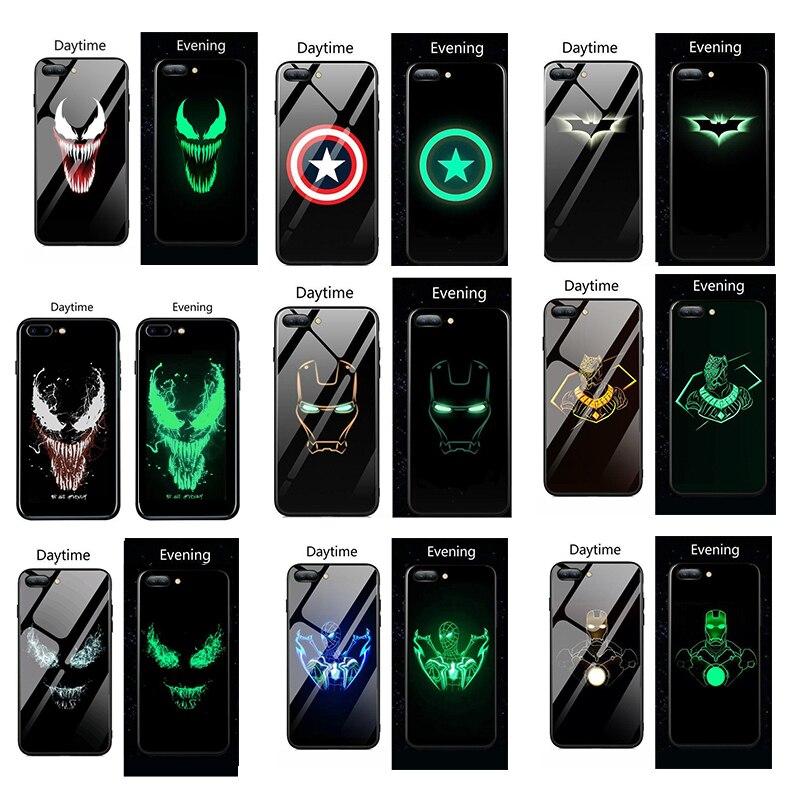 Marvel Venom Luminous Glass For xiaomi mi 9 9 se Mi 8 Lite mix2S 6 6X
