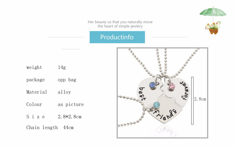 HTB1RrCzkiMnBKNjSZFzq6A qVXay - Best Friend Necklace Women Crystal Heart Tai Chi Crown Best Friends Forever Necklaces Pendants Friendship BFF Jewelry Collier