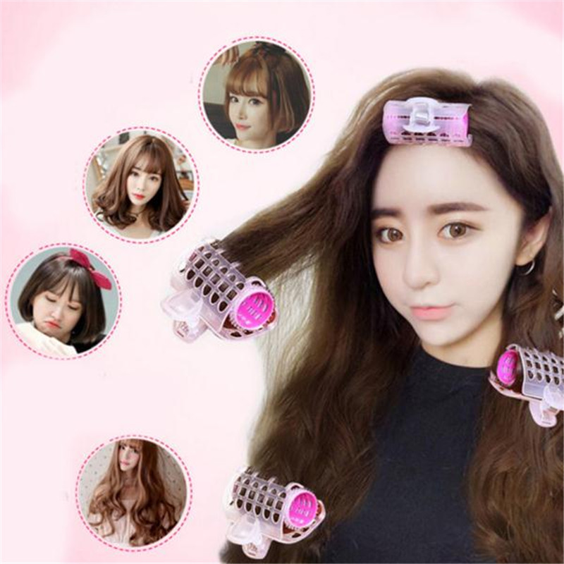 styling hair with rollers 3pcs set plastic hair curler roller large grip styling 7248