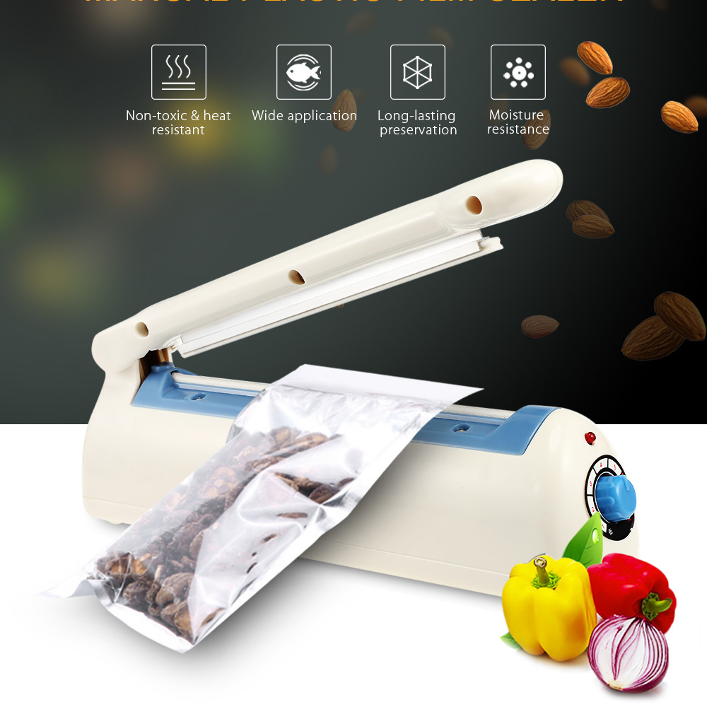 Steady Pfs-200 Electric Manual Bag Sealer Food Plastic Film Heating Sealing Machine 8 Gears Adjustment Vacuum Food Sealers For Kitchen Delicacies Loved By All