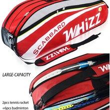 2020 большая 5-6 шт сумка для бадминтона стильные теннисные сумки для ракетки спортивная сумка для теннисной ракетки с двойным основным карман...