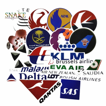 52Pcs Airline Logo High Quality Stickers Aviation Travel Trip For Suitcase Laptop Luggage Car Moto PVC Waterproof Sticker 55pcs mixed retro style travel hotel logo roma paris los japan chicago hawaii baghdad trip car sticker waterproof doodle decal