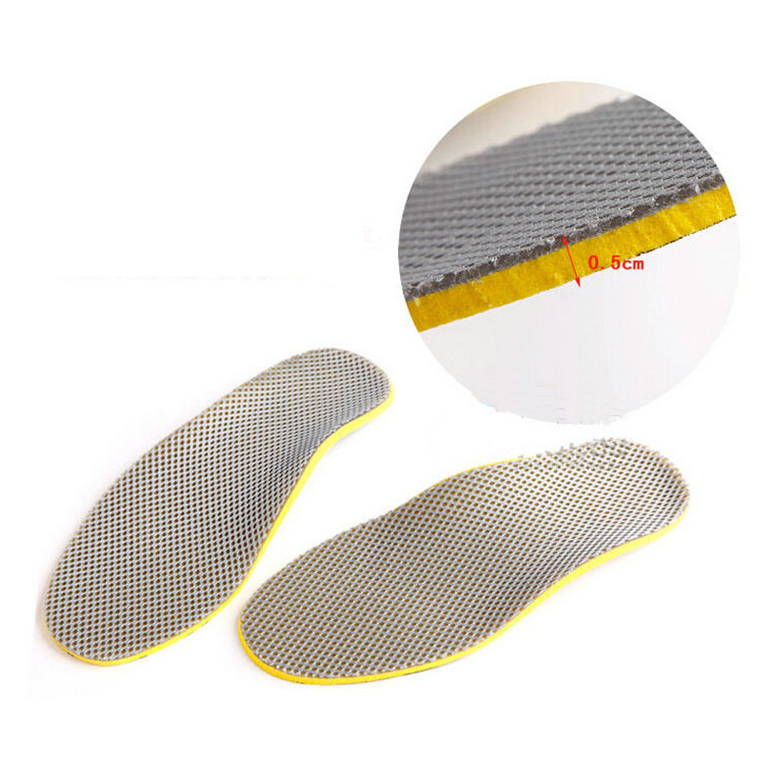 New Male/Female PU Orthopedic Insoles 3D Plantar Orthotic Arch Support Insoles High Arch Flat Foot Shoe Pad Shoes Insert