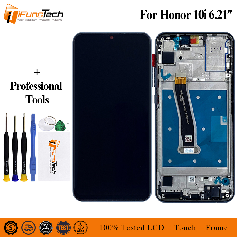 Für Huawei <font><b>Honor</b></font> 10i <font><b>LCD</b></font> Display Touchscreen Digitizer Montage Mit Rahmen Für <font><b>Honor</b></font> 10i image