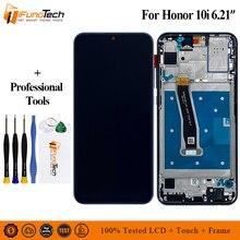 Huawei honor 10i lcd 디스플레이 터치 스크린 디지타이저 어셈블리 (명예 10i 용 프레임 포함)