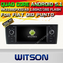 WITSON Quad Core Android 5.1 CAR DVD for FIAT OID PUNTO AUTO RADIO GPS SAT NAVI +CAPACTIVE SCREEN+DVR/WIFI/3G+DSP+RDS+16GB flash