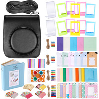Neewer 56 in 1 Accessory Kit for Fujifilm Instax Mini 90 : Camera Case Adjustable Strap+Frames+Book Album+Close up Lens