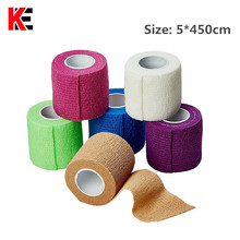 Купить с кэшбэком Waterproof Elastic Self Adhesive Medical Bandage Nonwoven Cohesive Gauze Tape First Aid Kit for Sport Ankle Finger Muscle Care