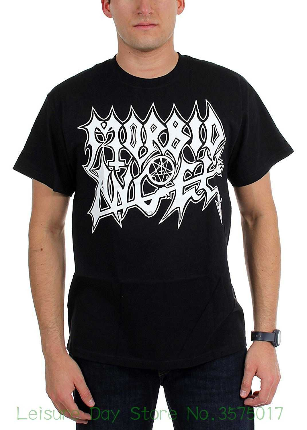 Summer The New Fashion For Short Sleeve Morbid Angel Men White Logo Extreme Music T-shirt Black