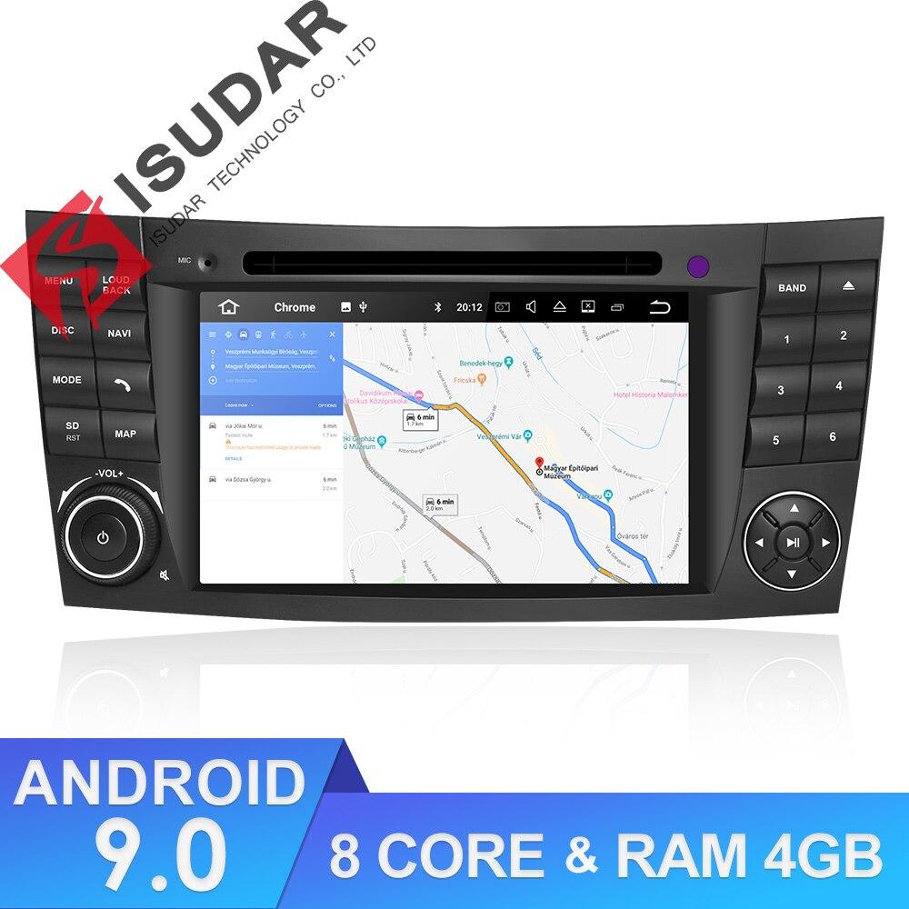 Isudar Android 9 Car Multimedia Player 2 Din For Mercedes/Benz/W211/E-Class/CL Car Radio GPS DVD 8 Cores 4GB RAM USB DVR DVR DSP