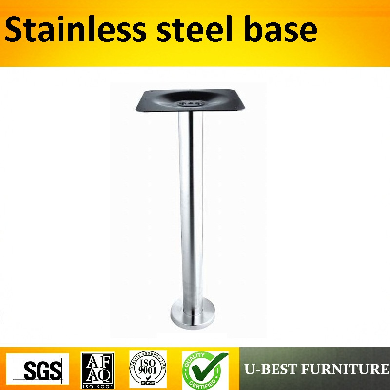 U-BEST Commercial Furniture General Use Square Polished Table Leg,promotional Dining Coffee Contemporary Table Base Stainless