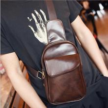 HOT Sale new men messenger bags Korean style casual vintage pu bags fashion travel chest packs versatile men