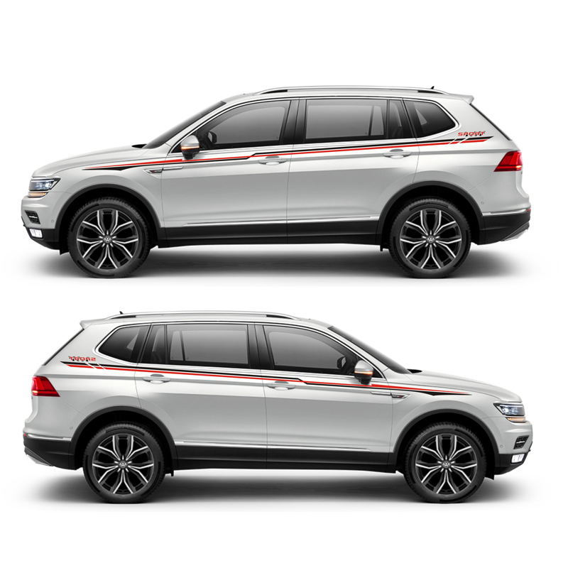 TAIYAO voiture style sport voiture autocollant pour Volkswagen Tiguan marque Levinson voiture accessoires et décalcomanies auto autocollant