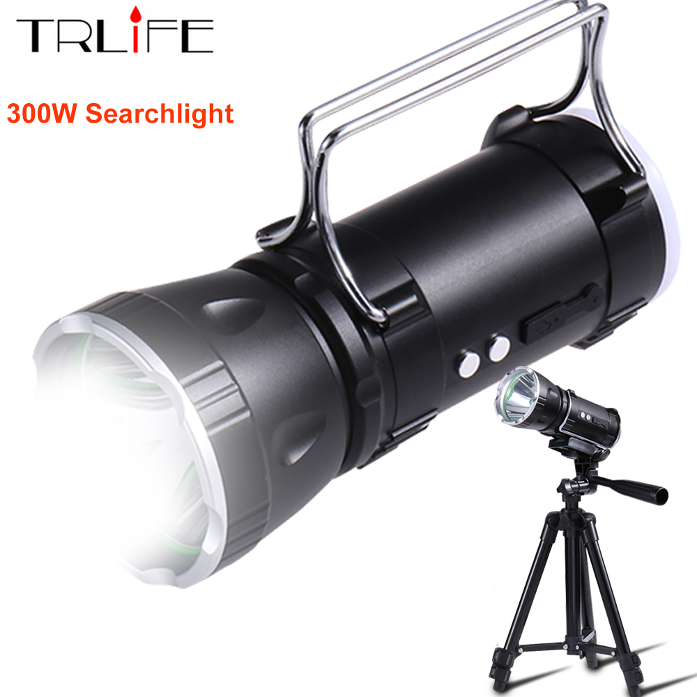 LED Flashlight Ultra Bright 300W Powerful Searchlight XPG 5630 LED Built in 6000mAH Battery Lamp Rechargeable