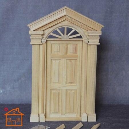 112 Dollhouse mini door DIY cabin windows accessories steeple double-column color 6 & 1:12 Dollhouse mini door DIY cabin windows accessories steeple ...