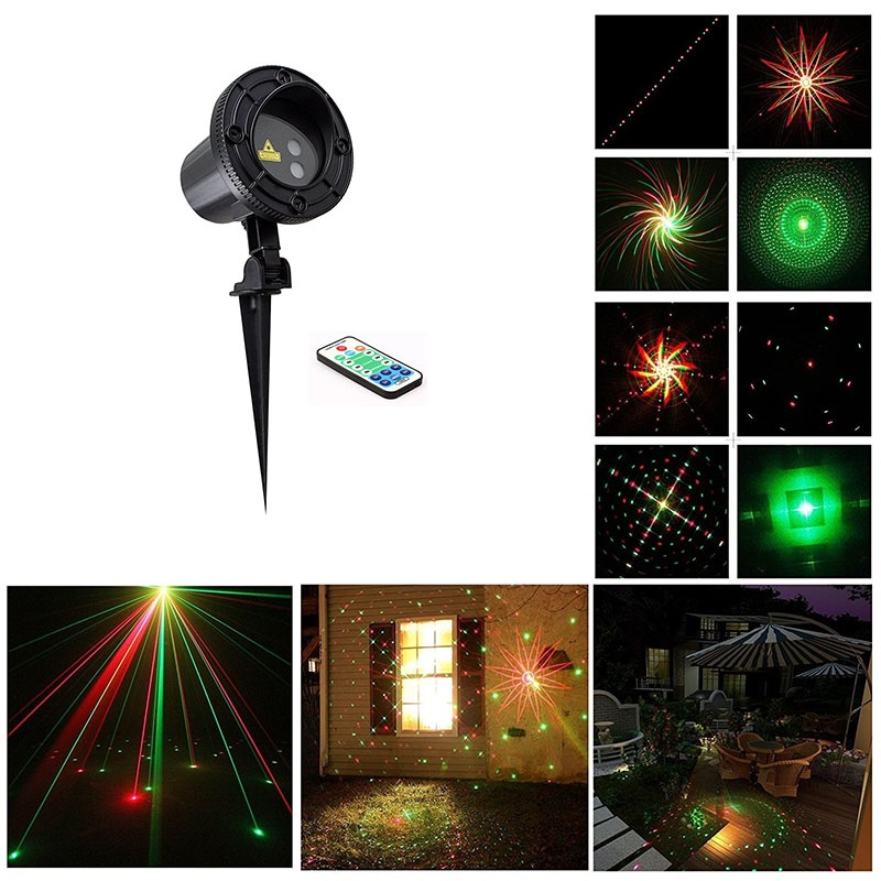 starsLaser Light 8 Big Patterns Showers Red Green Projector Waterproof IP65 RF Remote motion RG Christmas Tree Garden Decoration for land rover range rover sport freelander 2 discovery 4 2006 2014 car styling led fog lights angel eyes fog lamps 1set