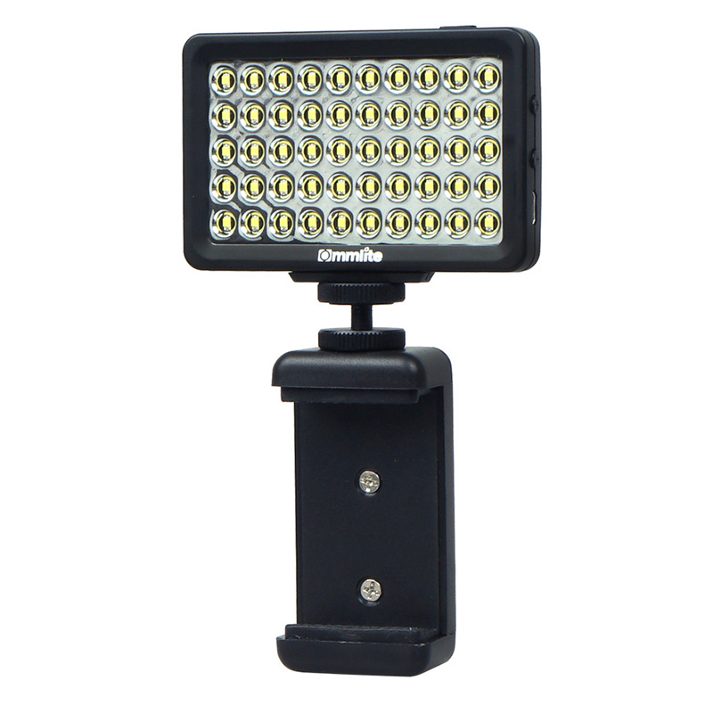 Top Deals Commlite LED Video Light CM-L50II Dimmable 50 LED Ultra High Power Panel video for smartphone Camera