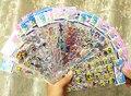 5 pçs/lote 13 padrões pode escolher Marca de Moda Crianças Brinquedos Dos Desenhos Animados 3D Adesivos Crianças meninas meninos PVC Adesivos Autocolantes Bolha GYH