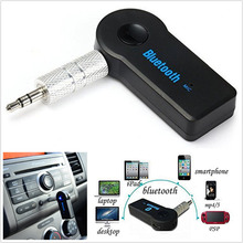 2017 New Wireless Bluetooth 3.5mm AUX Audio Stereo Music Home Car Receiver Adapter w/ Mic
