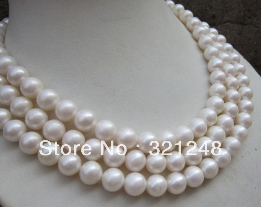 10-11mm fashion natural white freshwater cultured pearl round beads high grade women long chain necklace jewelry 54inch MY2089 цена и фото