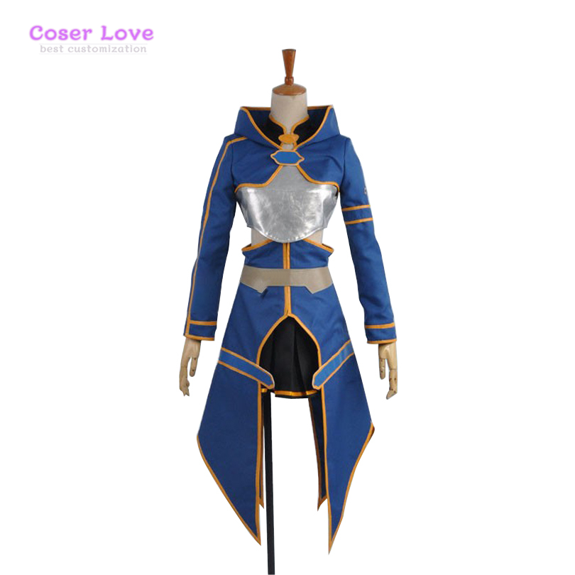 Sword Art Online 2 Ghost Bullet Silica Blue Anime Cosplay Carnaval Costume Halloween Christmas Costume