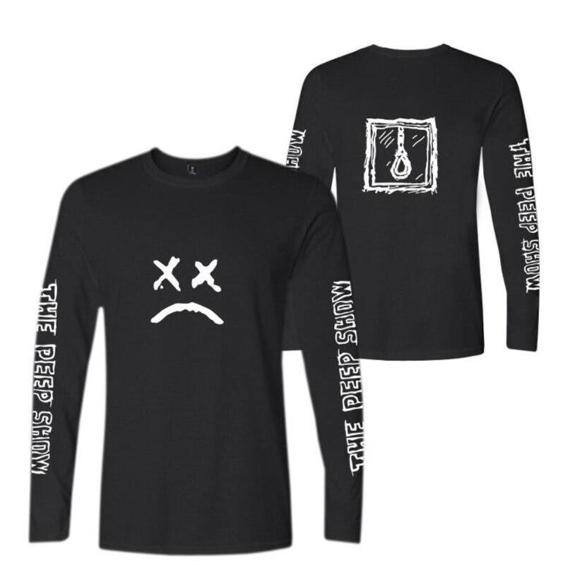 Rap Lil Peep T-Shirt Male Hip Hop Rapper New Top Tshirt Fashion Cotton Long Sleeve T Shirts Men Tee Shirt Homme Mens clothing