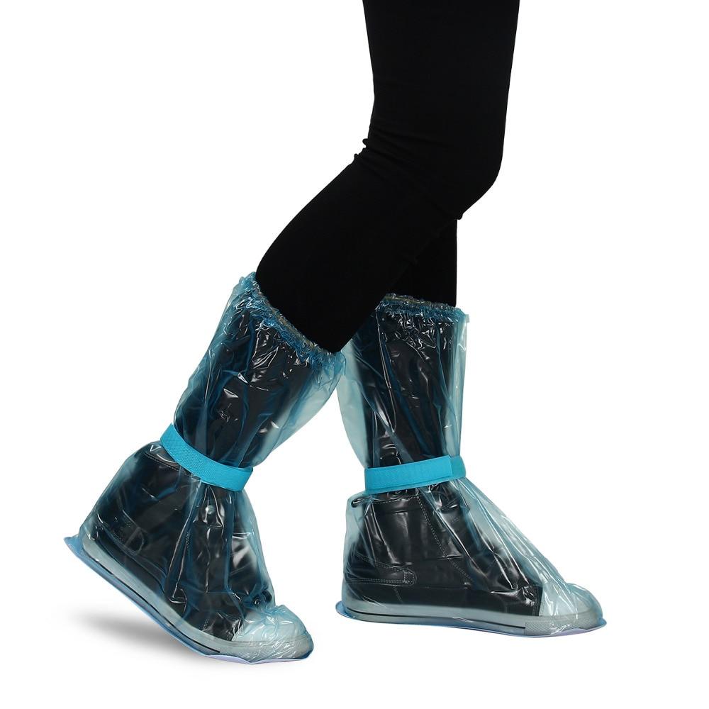 Reusable Waterproof Overshoes Shoe Covers Shoes Protector Slip-resistant Rain Shoes Cover comfortable nursing shoe waterproof black women chef shoes flat shoes sea food shop overshoes non slip kitchen work shoe covers