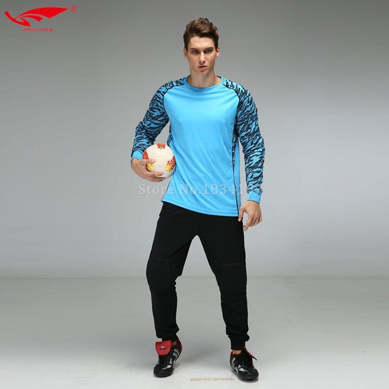 Camisetas de Soccer 2016 2017 hombres Fútbol portero Jersey largo Pantalones  traje de entrenamiento de fútbol portero uniformes nueva llegada en Juegos  de ... 11d300dc3a309